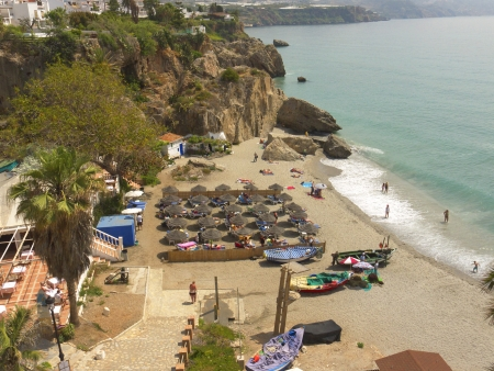 nerja: Nerja on the Costa del Sol in Andalucia Spain Editorial