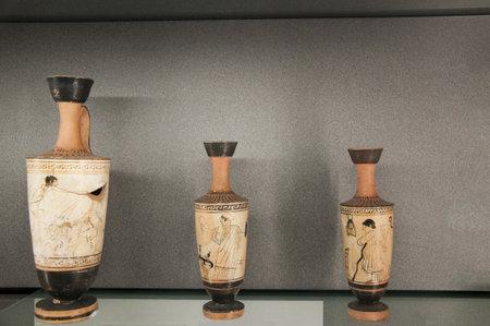 greek pottery: Roman or Greek  pottery vases
