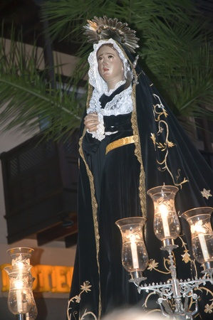 Easter processions in Puerto de la Cruz in Tenerife Canary Islands Spain photo