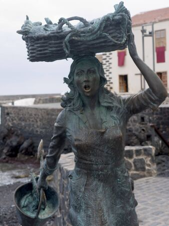 Fisher Girls Statue in Puerto de la Cruz in Tenerife in the Canary Islands Spain