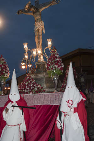 Easter processions in Puerto de la Cruz in Tenerife Canary Islands Spain