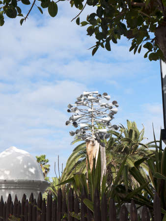 wind sculpture in Puerto de la Cruz in Tenerife, Canary Islands, Spain