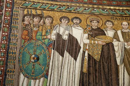 ravenna: Famous 10th century Mosaics in Church in Ravenna Italy