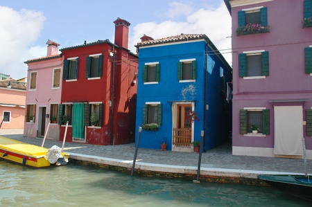 doge's palace: Island of Burano in Venetian Lagoon Venice Italy Stock Photo