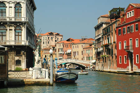 Old Palazzos on the Grand Canal in Venice Italy