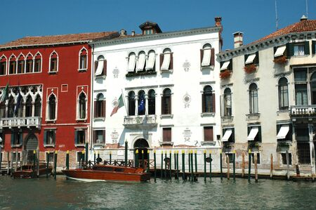 Old Palazzos on the Grand Canal in Venice Italy photo
