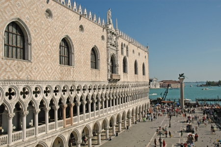 doges: The Doges Palace in Venice Italy