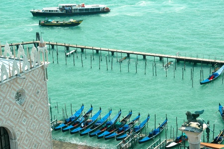 doge's palace: View of the Grand Canal from top of the Campanile of St Marks Basilica Venice Italy