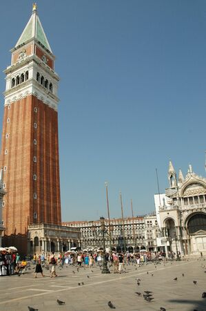 st mark's square: The Campanile of St Marks Basilica in Venice Italy