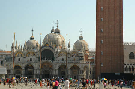 st mark's square: St Marks Square with the Campanile of St Marks Basilica Venice Italy Editorial