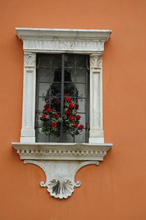 Window on Grand Canal in Venice Italy photo