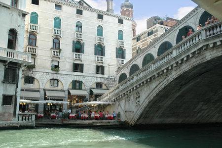 clock of the moors: The Rialto Bridge in Venice Italy