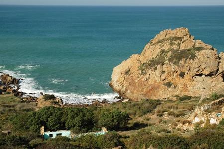 garrison: Point where the Mediterrean Sea meets the Atlantic Ocean