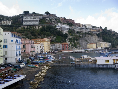 amalfi: Marina Grande the old fishing port of Sorrento in Southern Italy