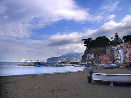 Marina Grande the old fishing port of Sorrento in Southern Italy photo