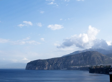 The Sorrentine Peninsular in the Bay of Naples in Southern Italy photo