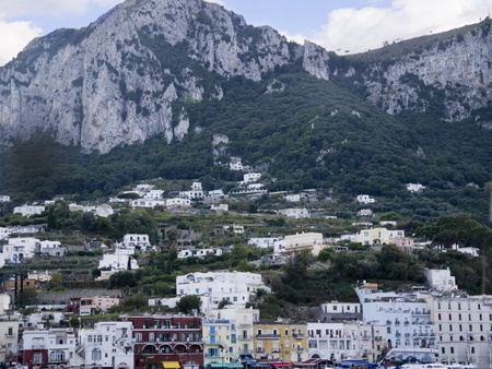 marquetry: The isle of Capri in the Bay of Naples in Southern Italy