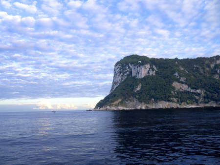The isle of Capri in the Bay of Naples in Southern Italy photo