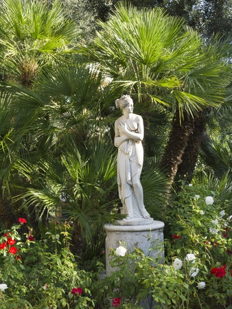 Statue in a beautiful Garden in Sorrento Italy Stock Photo - 11349727