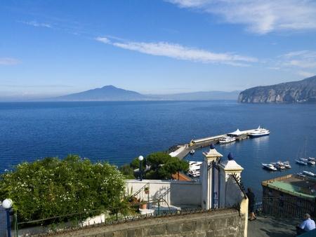Beautiful Terrace overlooking the sea in Sorrento Campania Italy photo