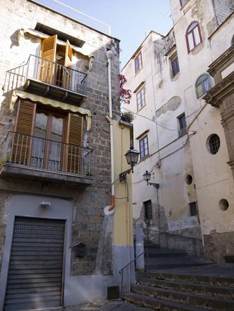 marqueteria: El casco antiguo de Sorrento Campania en Italia