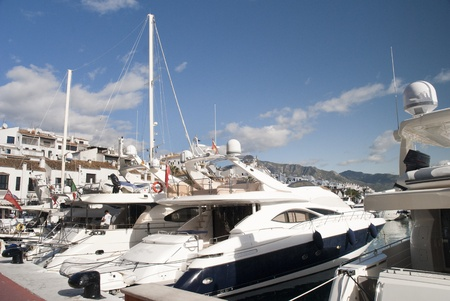 Harbour in Puerto Banus in Andalucia Spain photo