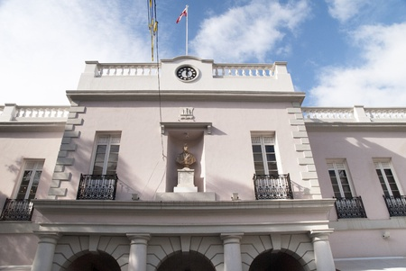 Building on Main Street of Gibraltar Town Stock Photo - 11557034
