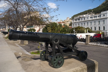 Fortifications on Harbour Walls in Gibraltar photo