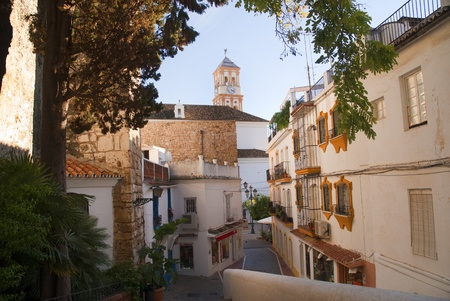 Street in the old town of Marbella Spain Banco de Imagens