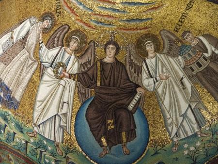 10th century mosaics in Church Apse in Ravenna Italy photo