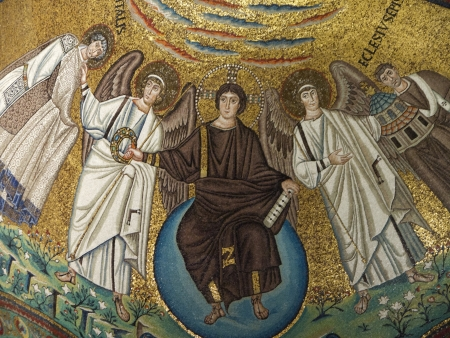10th century mosaics in Church Apse in Ravenna Italy