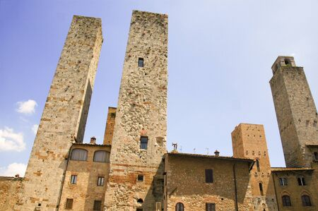Medieval Towers in San Gimignano Tuscany Italy photo