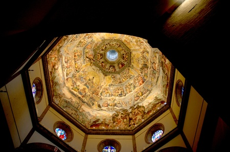 Brunellesci Dome in the Cathedral in Florence Italy