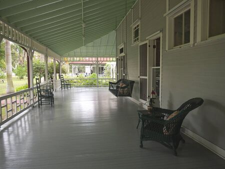 myers:  Terrace in Fort Myers Florida USA Stock Photo