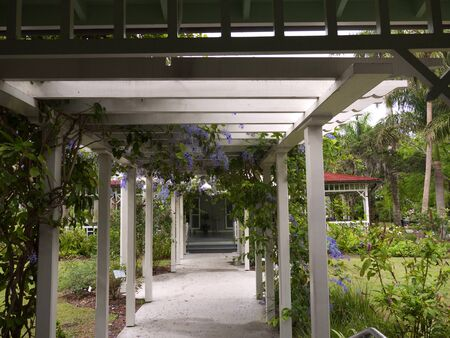 myers: Loggia in Beautiful Gardn in Fort Myers Florida USA