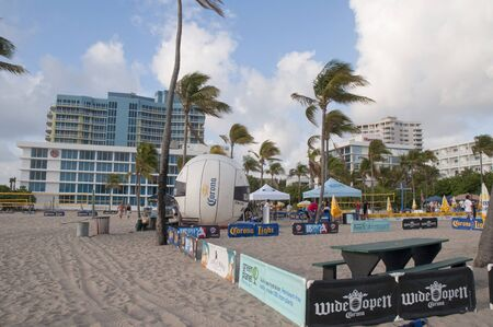 Beach at Fort Lauderdale is a city in the U.S. state of Florida, on the Atlantic coast  Stock Photo - 14543475