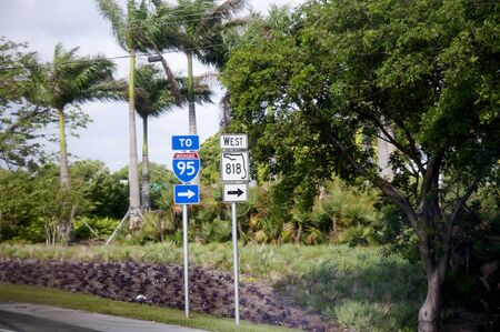 Road Sign in Fort Lauderdale Florida USA Stock Photo - 11561674