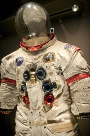 re fuel: Space suit at Kennedy Space Centre at Cape Canavarel Florida