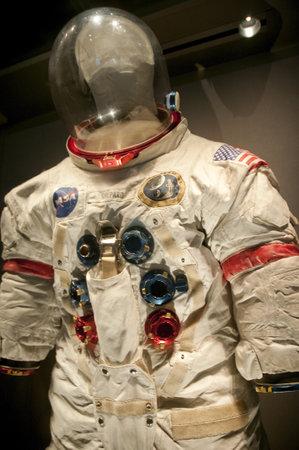 space suit: Space suit at Kennedy Space Centre at Cape Canavarel Florida