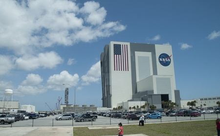 Inside NASAs Vehicle Assembly Building VAB  Kennedy Space Center Space shuttle era