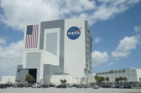 Shuttle Assembly Building at Kennedy Space Centre at Cape Canavarel Florida Stock Photo - 11556501