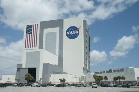 Shuttle Assembly Building op het Kennedy Space Center op Cape Canavarel Florida