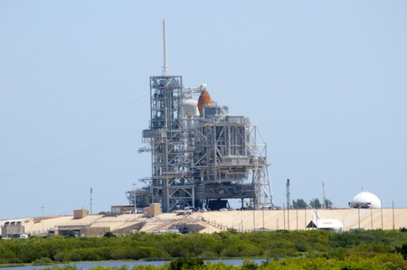 cape canaveral: Atlantis Shuttle on Launch pad at Cape Canaveral Florida USA Editorial