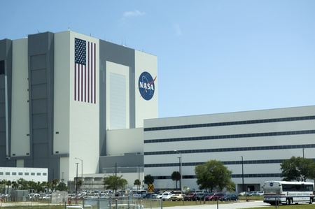 re fuel: Shuttle Assembly Building at Kennedy Space Centre at Cape Canavarel Florida