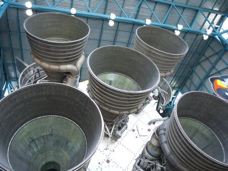 Space vehicles at Kennedy Space Centre at Cape Canavarel Florida