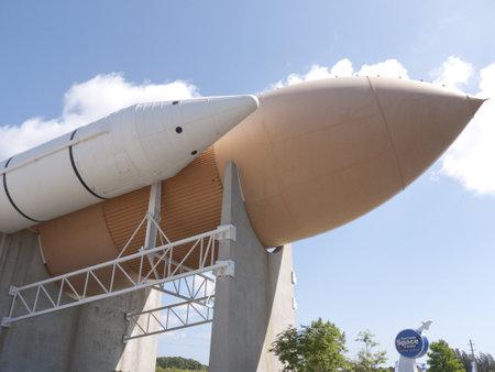 capsula: Los veh�culos espaciales en el Centro Espacial Kennedy en el Cabo de la Florida Canavarel