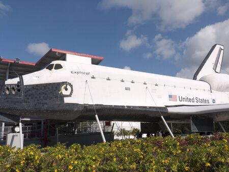 re fuel: Space vehicles at Kennedy Space Centre at Cape Canavarel Florida