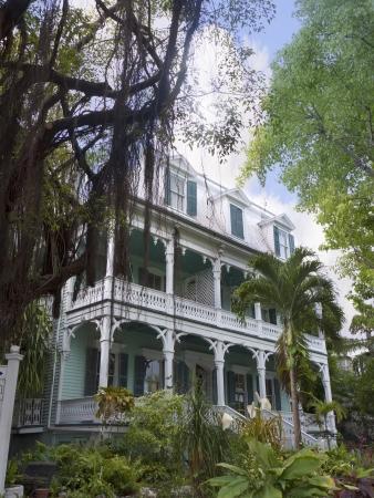 Old House in Key West in de Florida Keys in de staat Florida USA Stockfoto