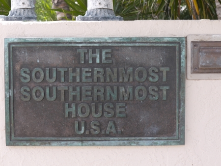 amusing house sign in Key West Florida USA