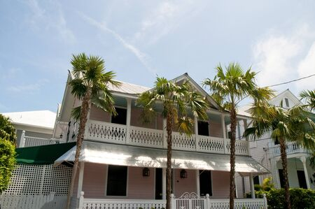 north american butterflies: Old House in Key West in the Florida Keys in the State of Florida USA